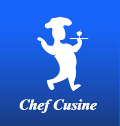 chef cook figure icon vector image