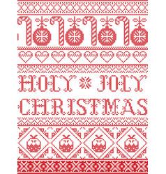 christmas pattern holy joly christmas vector image