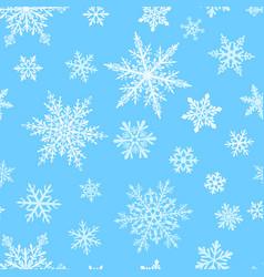 christmas seamless pattern snowflakes vector image
