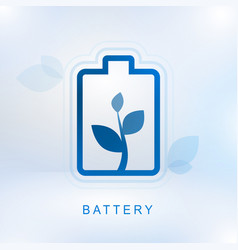 Clean energy concept with battery vector