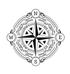 compass hud futuristic vector image