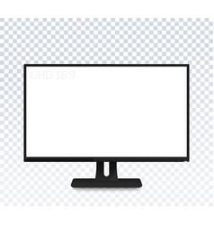 computer monitor mockup realistic display vector image