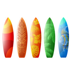 designs for surfboards vector image