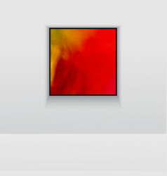 Digital art picture in hot red color on the wall vector