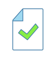 Document verification color icon vector