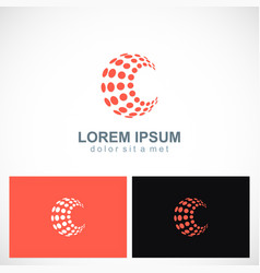 dot sphere abstract technology business logo vector image