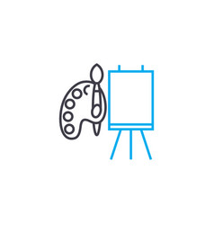 drawing in watercolor linear icon concept drawing vector image