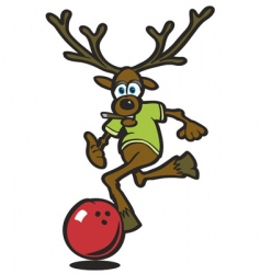 elk bowling vector image