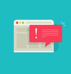 Error message flat cartoon vector