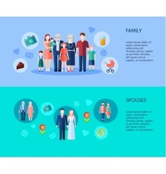 Family And Spouses Banners vector