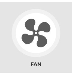 Fan flat icon vector image