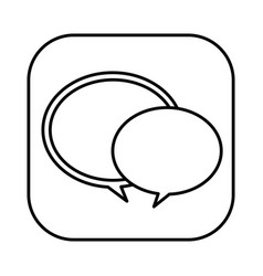figure round chat bubbles icon vector image