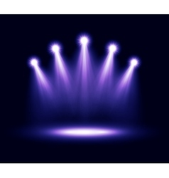 Five realistic spotlights lighting vector image