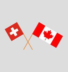 Flags of switzerland and canada vector