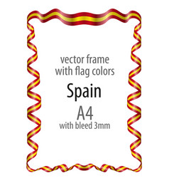 Frame and border with the coat of arms and ribbon vector
