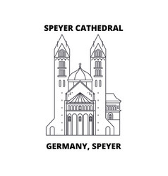 Germany speyer speyer cathedral line icon vector