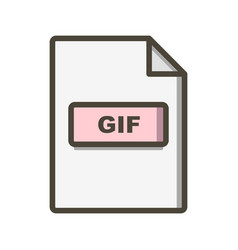 Gif icon vector