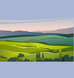 Green valley landscape vector