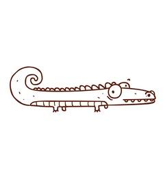 Hand drawn alligator vector