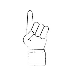 hand with index up vector image
