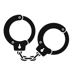 Handcuffs icon simple style vector