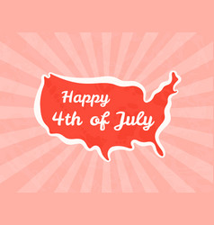 happy fourth july and independence day vector image