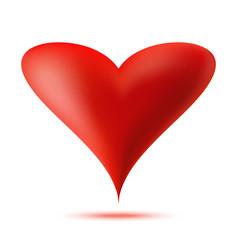 heart 3d logo valentine heart icon vector image