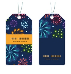 Holiday fireworks vertical stripe frame pattern vector