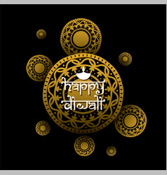 indian festival diwali greeting design vector image
