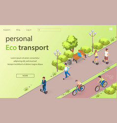 inscription personal eco transport lettering vector image