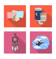 Isolated object of dreams and night sign vector