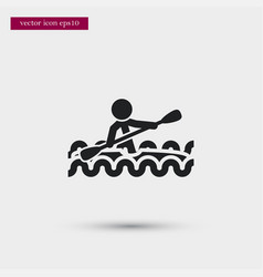 kayaking icon simple swimming element game vector image