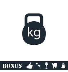 Kettlebell icon flat vector