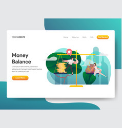 landing page template money balance concept vector image