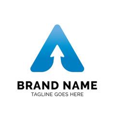 letter a arrow logo design inspiration vector image