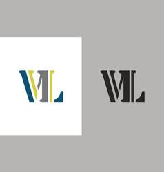 letter vl logo vector image