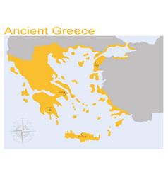 Map ancient greece vector