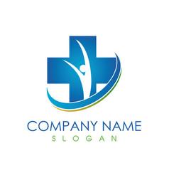 Medical family logo vector