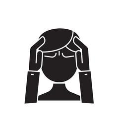 mental activity black concept icon mental vector image