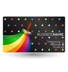 painting business card vector image