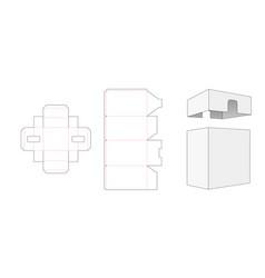 pakaging box and lid die cut template design vector image