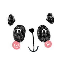 panda face vector image