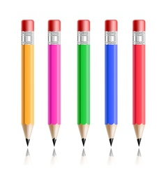 Pencil set vector