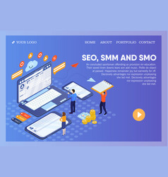 Pictographic for seo smm smo or search engine vector