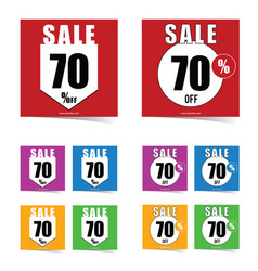 poster of sale 70 percent off set in color art vector image