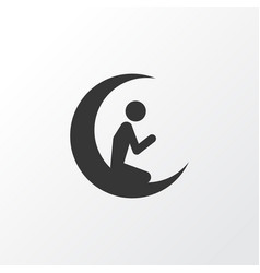 Prayer icon symbol premium quality isolated man vector