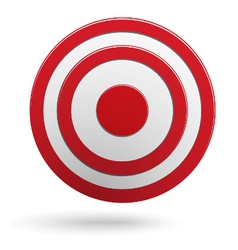 Red round darts target aim isolated vector image