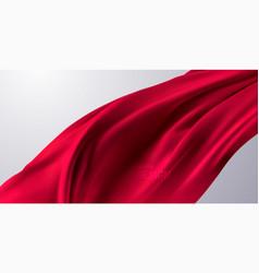 Red silk fabric 3d vector