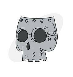 Robot skull vector
