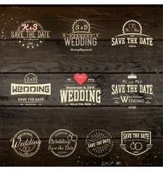 Save date badges cards and labels for any use vector